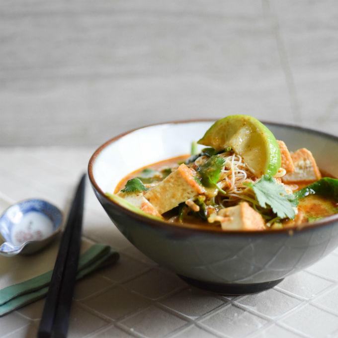 TOFU, SPINACH & GREEN BEAN LAKSA Recipe