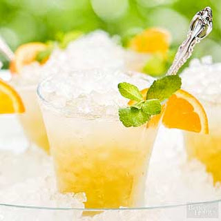 Orange Mint Juleps.