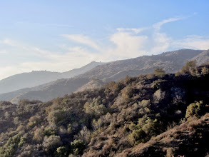 Photo: View west from Colby Trail toward where I traversed along the ridge from Garcia Trail. All this beautiful chaparral will be incinerated in two weeks.