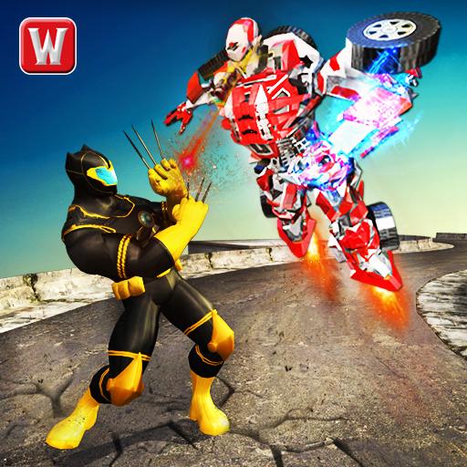 Flying Panther Superhero VS Transform Robot Battle