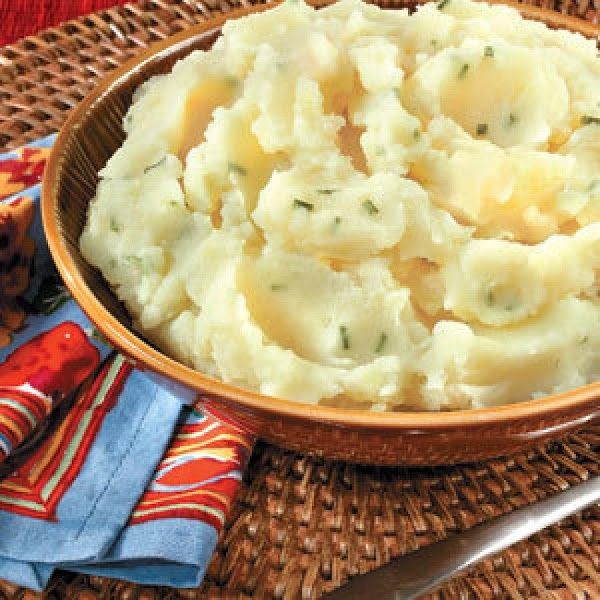 Roasted Garlic Mashed Potatoes With Chives Recipe