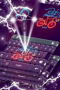 Téma rychlé klávesnice Neon - náhled