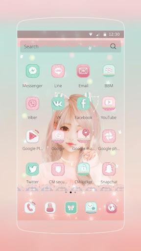 玩免費生活APP|下載かわいい女の子のテーマ app不用錢|硬是要APP