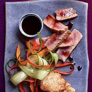 Seared Tuna Steaks with Citrusy Soy Sauce.