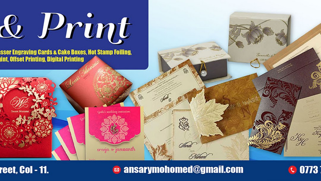 Art And Print Wedding Souvenir Shop In Colombo
