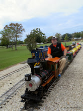 Photo: Bill Smith on the Charles Williams loco.      HALS / SWLS 2013-1109  RPW