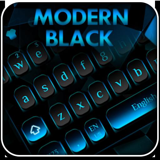 Modern Black blue Keyboard