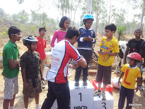 Photo: Winners of the kids race getting Dairy Milk love! :)