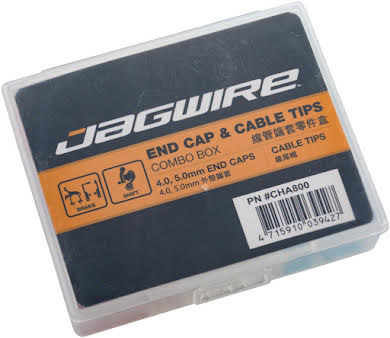 Jagwire Housing End Cap Combo Kit Red / Silver / Blue Alloy alternate image 0