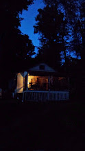 Photo: The cottage, at night..