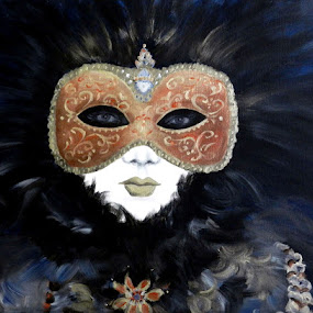 Bellezza Veneziana by Kerry  Milligan - Painting All Painting ( carnival, canvas, mask, acrylic, painting, venetian,  )