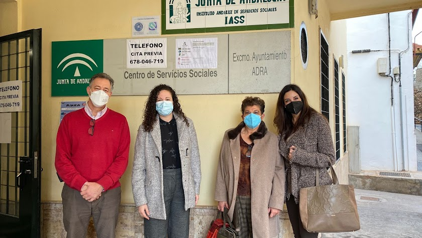Participantes en esta primera reunión celebrada en el municipio abderitano.