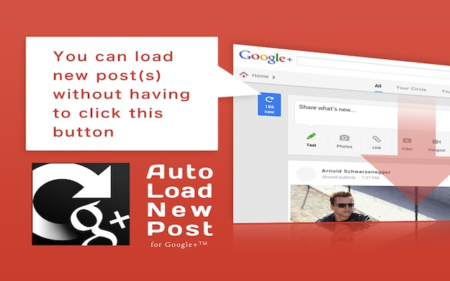 Auto Load New Posts for Google+™
