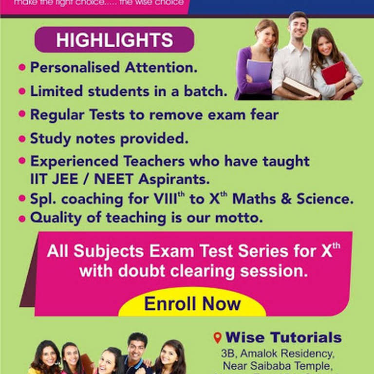 Wise Tutorials, Pimple Saudagar - Tuitions for 1st to xiith in