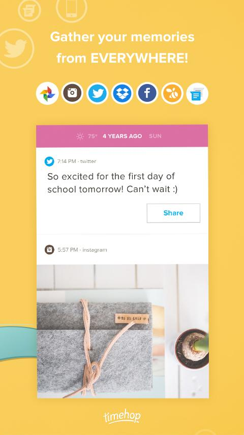 Timehop- screenshot
