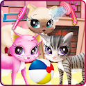 Kitty pet care salon icon