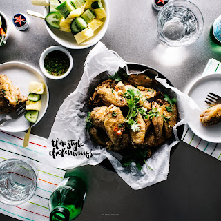 Spicy Thai Oven-Fried Chicken Wings