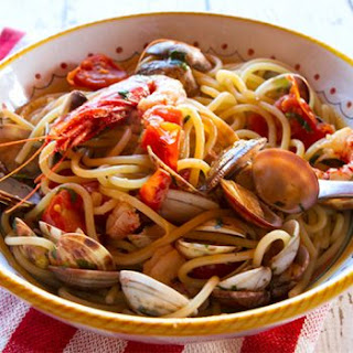 Pasta With Venetian Red Shrimp & Clams.