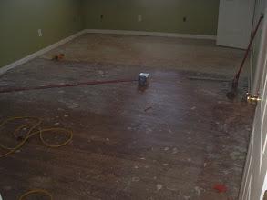 Photo: damaged old hardwood not saveable.