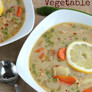 Lemony Thai Chicken Vegetable Soup.