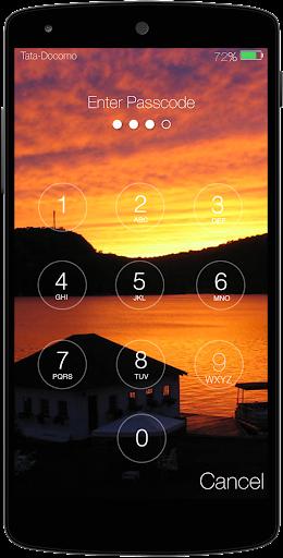 Sunset Keypad Lockscreen