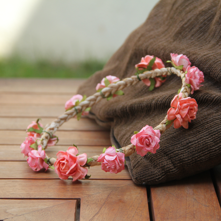 Pink Floral Crown by Style Me Pretty