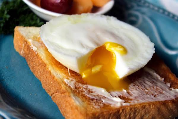 Inside Of The Perfect Poached Egg.