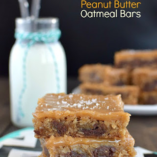 Caramel Peanut Butter Oatmeal Bars