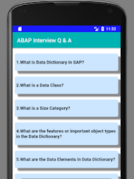 SAP ABAP Interview Question and Answer APK screenshot thumbnail 1