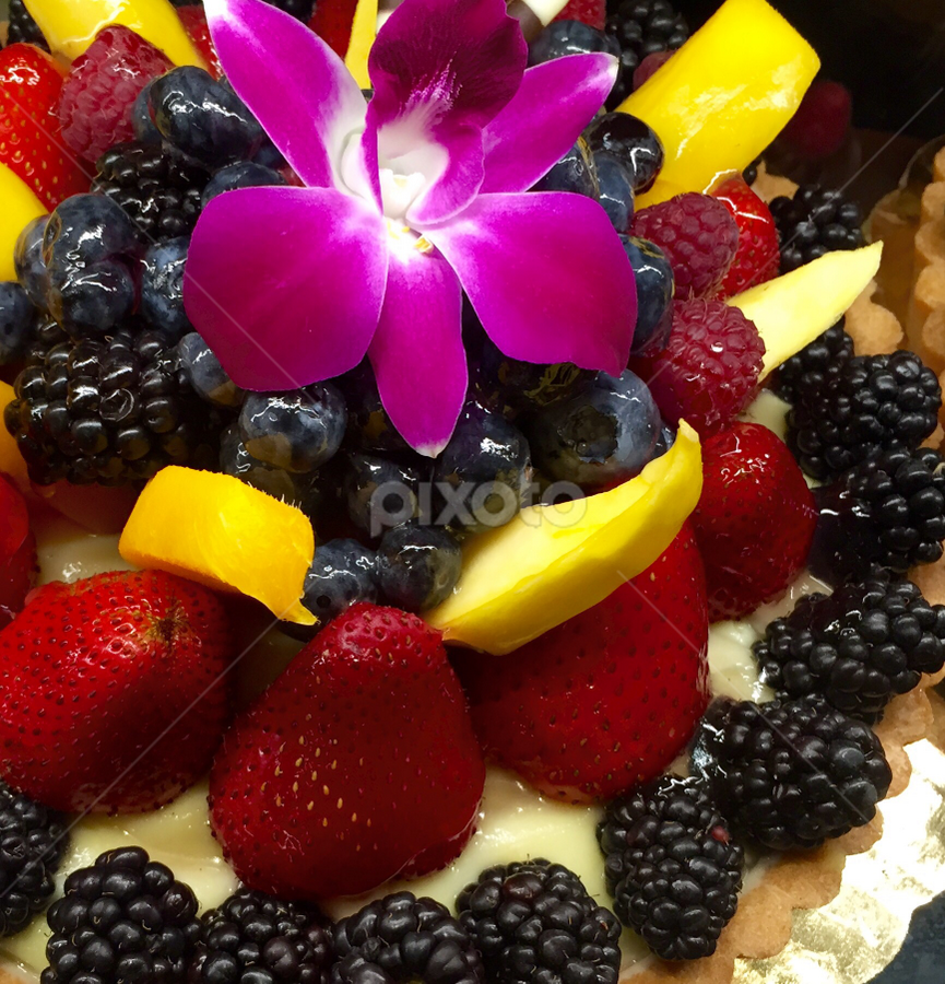 Fruit and Berries Tart by Lope Piamonte Jr - Food & Drink Candy & Dessert