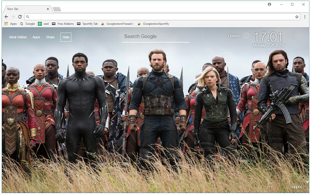 avengers infinity war wallpapers new tab - free addons
