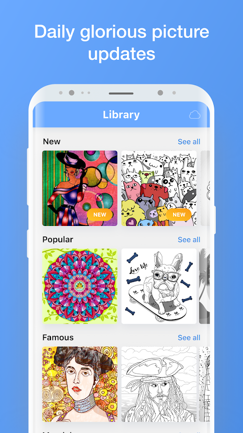 Screenshot 2 Colorist - Coloring Book for Adults 1.0.326 APK PAID