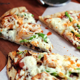 Cajun Pizza with Andouille and Shrimp