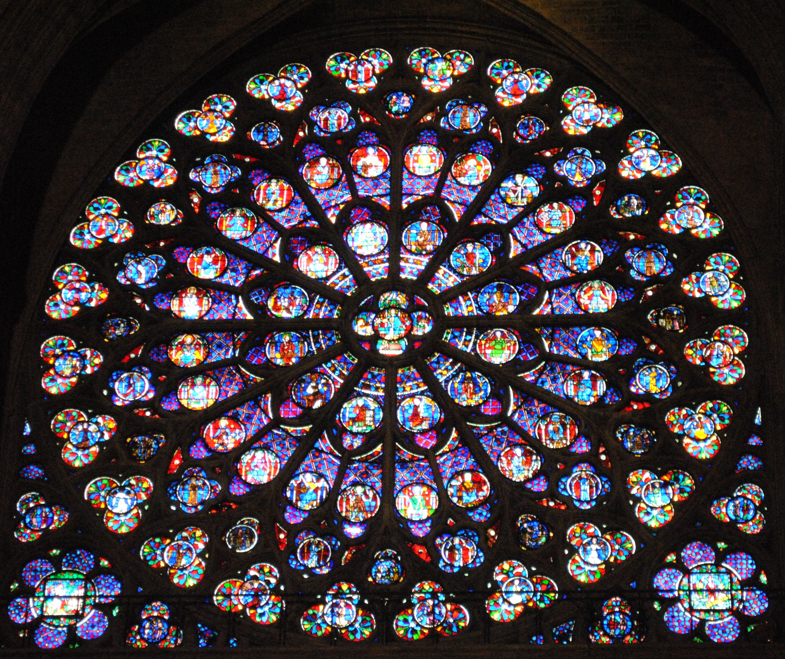 My Photos: Stained Glass Windows of Notre Dame
