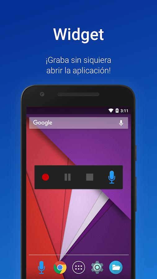 Grabadora de voz fácil Pro para Android