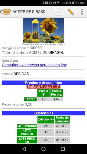 iGes: capturas de pantalla simples de facturación 5