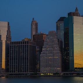 New York at Sunrise by Logan Knowles - City,  Street & Park  Skylines ( skyline, blue hour, nyc, sunrise, newyork )