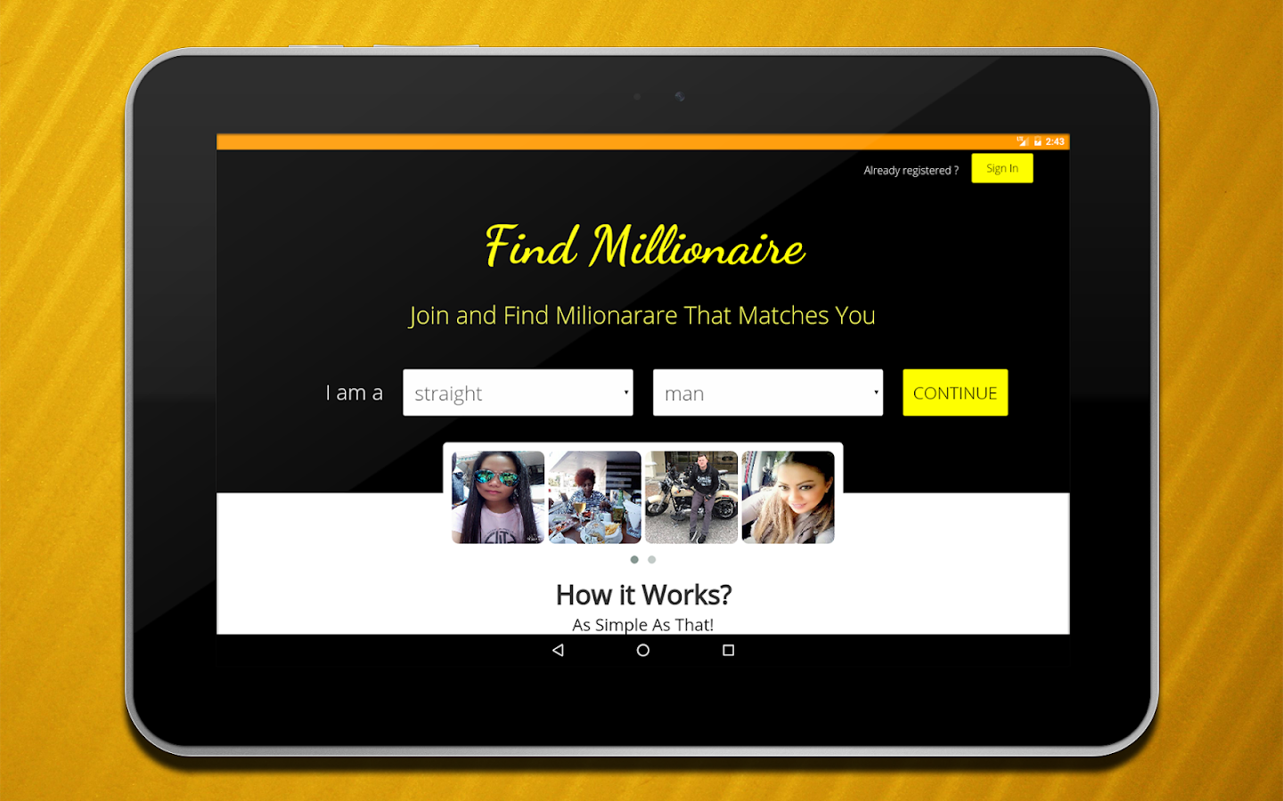 Adult Dating, Find Millionaire - Android Apps on Google Play