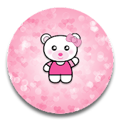 XP Theme Beauty Pink Bear