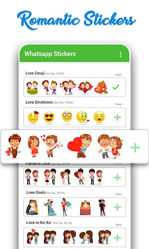 WAStickerApps: Romantic Love Stickers for whatsapp 22.1 screenshots 1