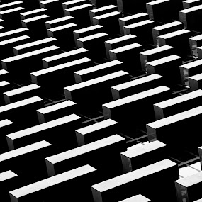 Building Blocks by Paul Aparicio - Abstract Patterns ( black and white, abstract architecture, abstract photography, chicago )