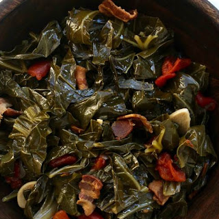 Slow-Cooker Collard Greens with Bacon.