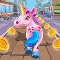 Unicorn Run Rush: Endless Runner Games icon