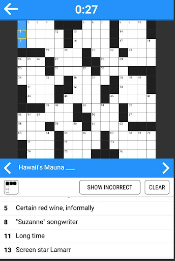 Crosswords - 800 easy and hard crossword puzzles 1.0 Mod screenshots 3