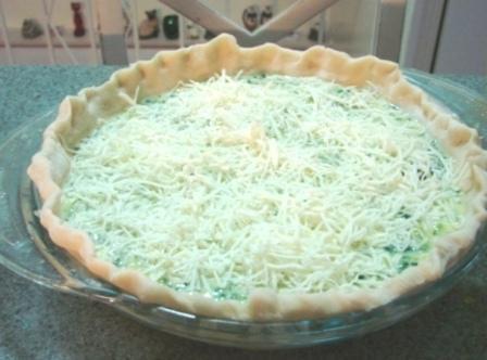 On bottom oven rack - Bake 350 degrees for 45 minutes or until knife...