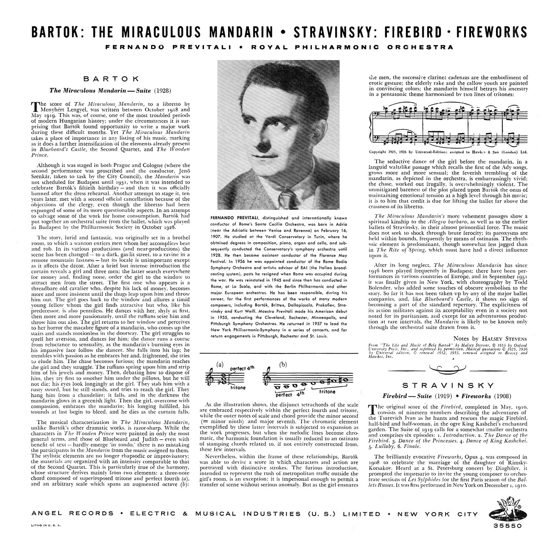 Béla Bartók, Fernando Previtali, Igor Stravinsky