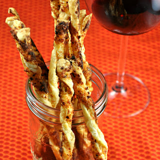 Spicy Cheesy Parmesan Cheese Straws.