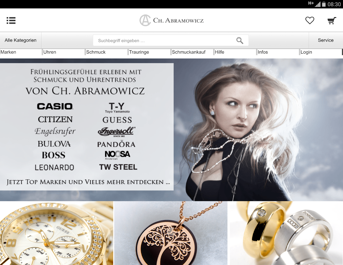 Abramowicz.de der Shop- screenshot