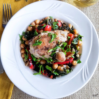 Bay Leaf Braised Chicken with Chickpeas Recipe