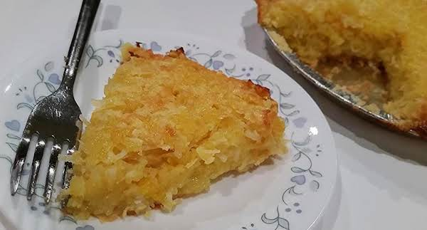 ~ Mom's Pineapple Coconut Chess Pie ~ Recipe